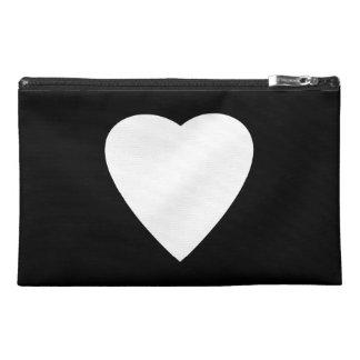 Black and White Love Heart Design. Travel Accessories Bag