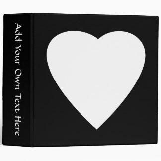 Black and White Love Heart Design. Vinyl Binders