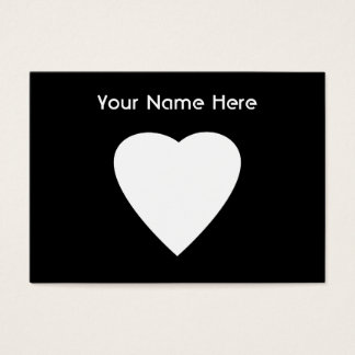 Black and White Love Heart Design. Business Card