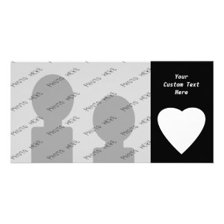 Black and White Love Heart Design. Card