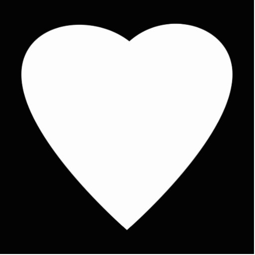 Black and White Love Heart Design. Cut Out