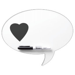 Black and White Love Heart Design. Dry-Erase Board
