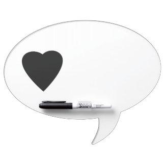 Black and White Love Heart Design. Dry-Erase Board