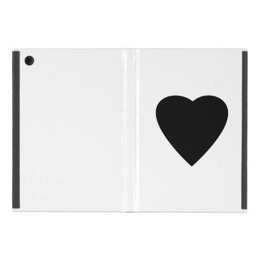 Black and White Love Heart Design. Covers For iPad Mini