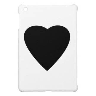 Black and White Love Heart Design. iPad Mini Cases