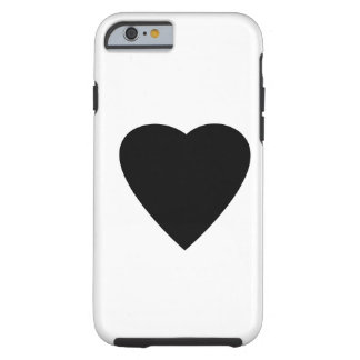 Black and White Love Heart Design. iPhone 6 Case