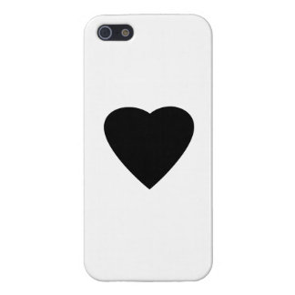 Black and White Love Heart Design. Cover For iPhone 5