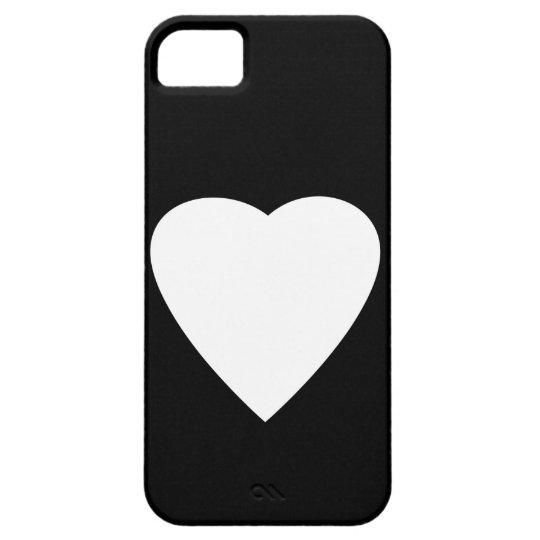 Black and White Love Heart Design. iPhone SE/5/5s Case