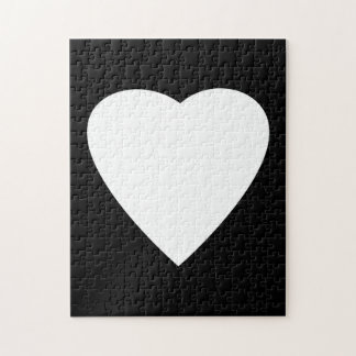Black and White Love Heart Design. Jigsaw Puzzle