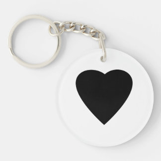 Black and White Love Heart Design. Keychain