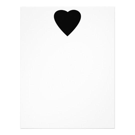 Black and White Love Heart Design. Letterhead