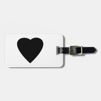 Black and White Love Heart Design Luggage Tag