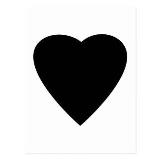 Black and White Love Heart Design. Postcards