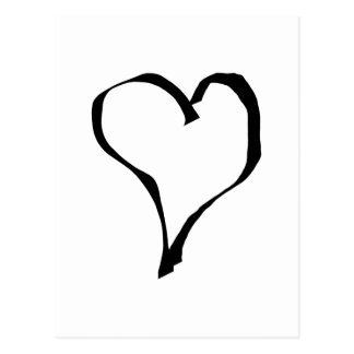 Black and White Love Heart Design. Post Cards