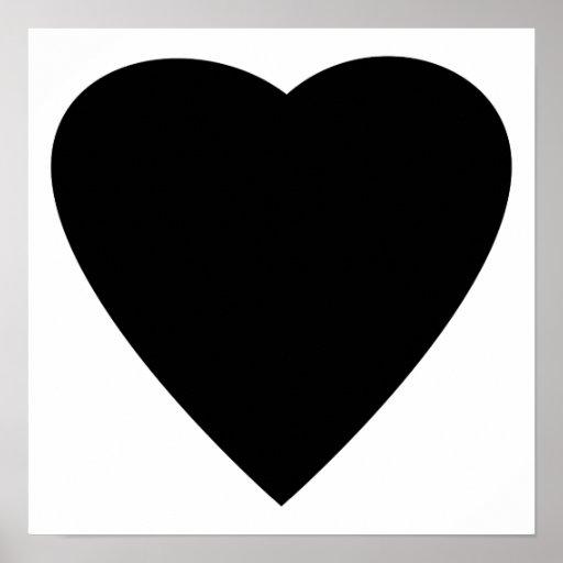 Black and White Love Heart Design. Poster