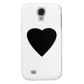 Black and White Love Heart Design. Samsung Galaxy S4 Case