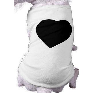 Black and White Love Heart Design. Shirt