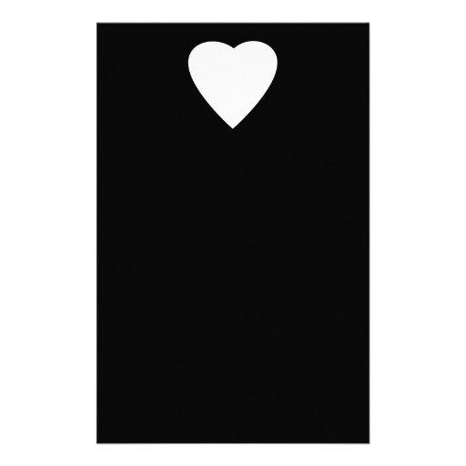 Black and White Love Heart Design. Stationery