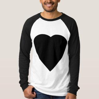 Black and White Love Heart Design. T Shirt