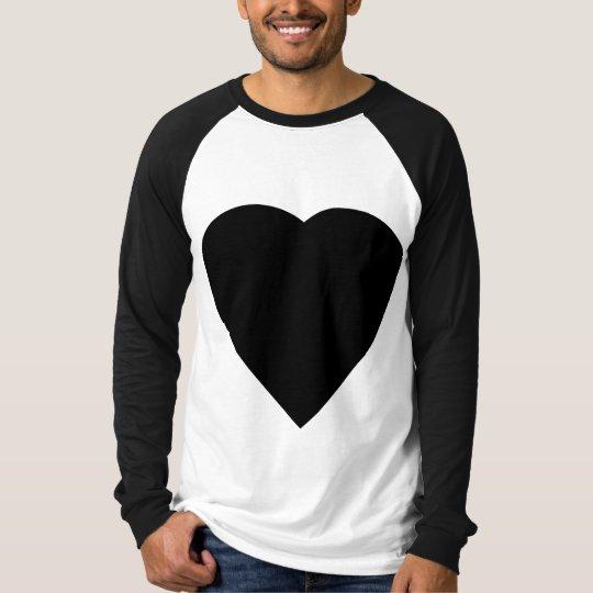 Black and White Love Heart Design. T-Shirt