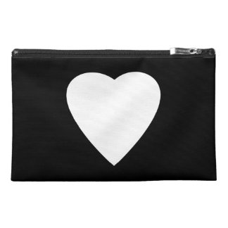 Black and White Love Heart Design. Travel Accessories Bags