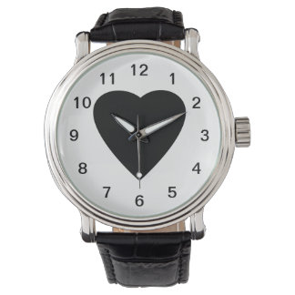 Black and White Love Heart Design. Watches