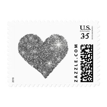 Valentines Themed black and white love heart postage