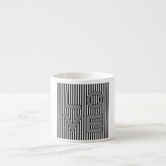 Black and White Love Typography Espresso Cup