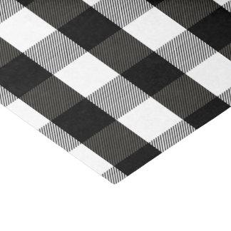 Black and White Lumberjack Plaid Tissue Paper