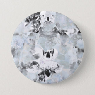 Black and white luxurious abstract modern art pinback button