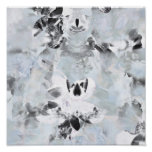 Black and white luxurious abstract modern art poster