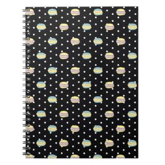 Black and White Macaron polkadot Notebook