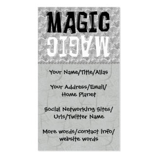 Black and White Magic Business Card