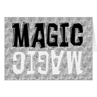 Black and White Magic Greeting Card