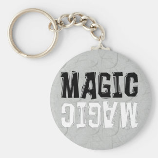 Black and White Magic Keychain
