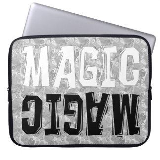 Black and White Magic Laptop Sleeves