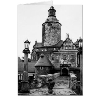 Black and White Magical Castle Photograph Greeting Card