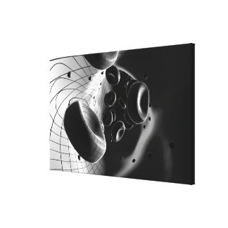 Black and white magnification of blood cells canvas print