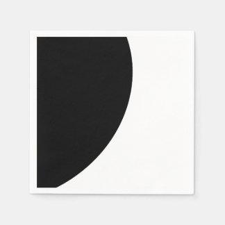 Black and White Majesty Paper Napkin