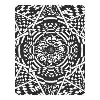 Black and white mandala design letterhead