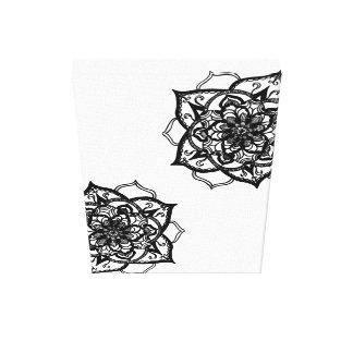 Black and White Mandala Inspired Design. Canvas Print
