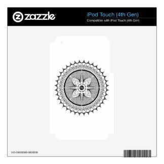Black and white mandala iPod touch 4G skin