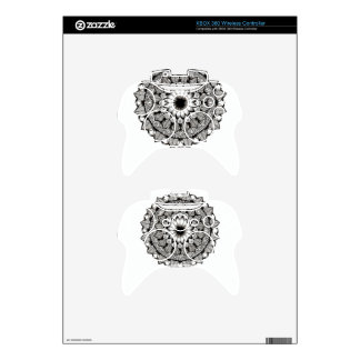 Black and White Mandala Item Xbox 360 Controller Decal
