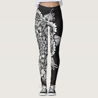 Black and White Mandala Leggings