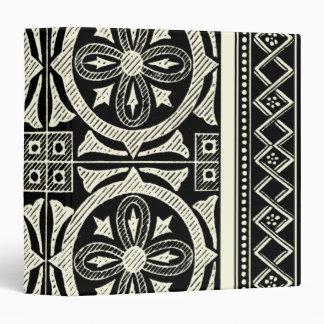 Black and White Mandala Motif by Vision Studio 3 Ring Binder