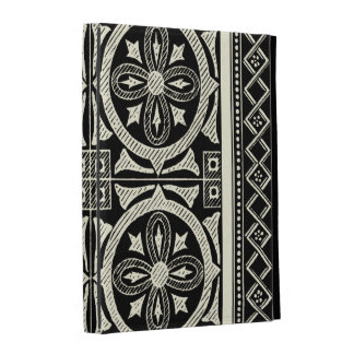 Black and White Mandala Motif by Vision Studio iPad Case