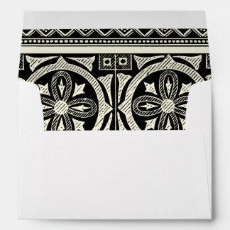 Black and White Mandala Motif by Vision Studio Envelope