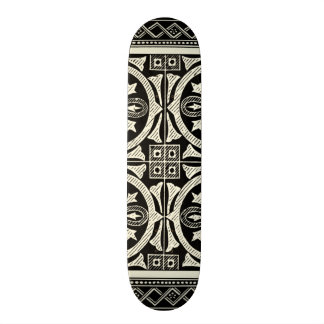 Black and White Mandala Motif by Vision Studio Skateboard Deck