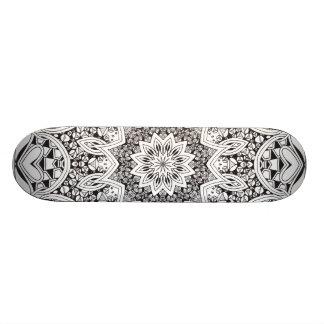 Black and White Mandala Skateboard