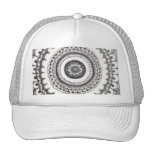 Black and White Mandala Snapback by Megaflora Trucker Hat
